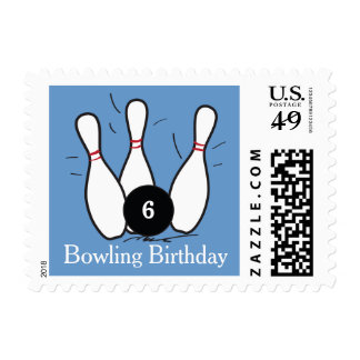 Bowling Birthday Postage Stamps