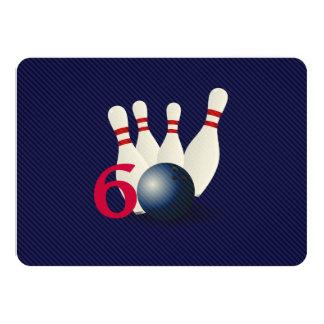 Bowling, bowler 60th Birthday Invitation. Card