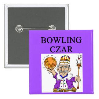 BOWLING bowler czar 2 Inch Square Button