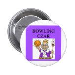 BOWLING bowler czar Pinback Button