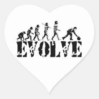 Bowling Bowler Sport Evolution Art Heart Sticker