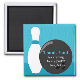 Bowling Boy Birthday Party Thank You Magnet