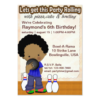 Bowling Boy Party Invite