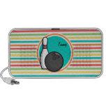 Bowling; Bright Rainbow Stripes Mini Speakers