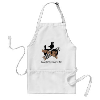 Bowling Brings Out The Animal In Me Adult Apron