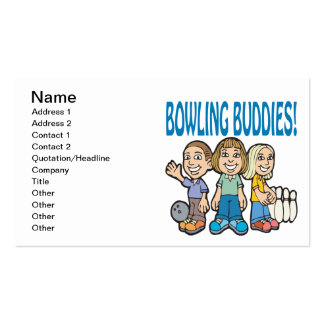 Bowling Buddies Double-Sided Standard Business Cards (Pack Of 100)