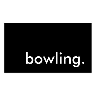 bowling. Double-Sided standard business cards (Pack of 100)