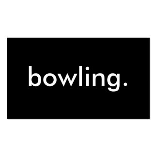 bowling. business card