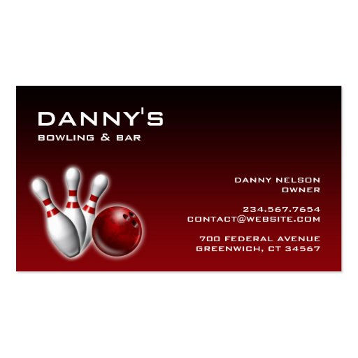 Bowling business card zazzle for Zazzle business card