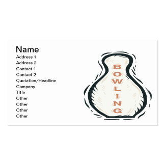 Bowling Double-Sided Standard Business Cards (Pack Of 100)