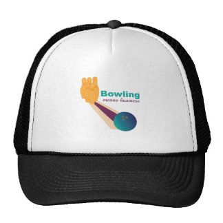 Bowling Business Trucker Hat