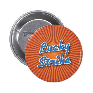 Bowling Button: Lucky Strike Pinback Button