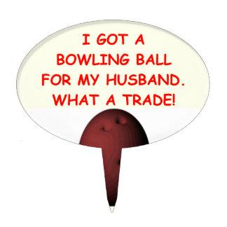bowling cake picks