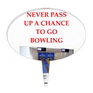 BOWLING CAKE TOPPERS