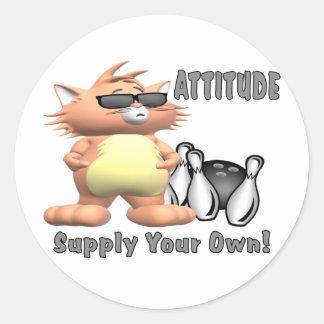 Bowling Cat: Attitude Sticker