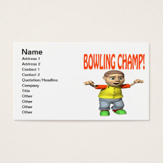 Bowling Champ Business Card