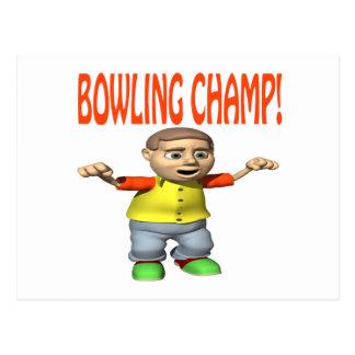 Bowling Champ Postcard