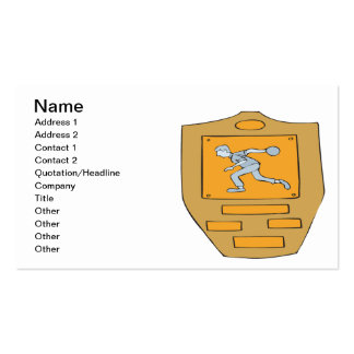 Bowling Champion Double-Sided Standard Business Cards (Pack Of 100)