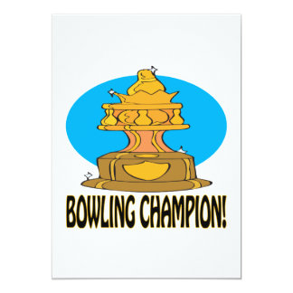 Bowling Champion Card