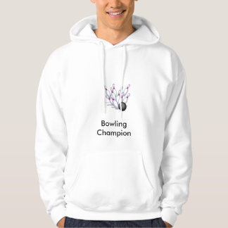 Bowling champion hooded pullover