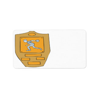 Bowling Champion Address Label