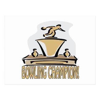 Bowling Champion Postcard
