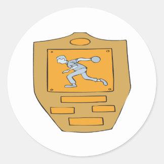Bowling Champion Classic Round Sticker