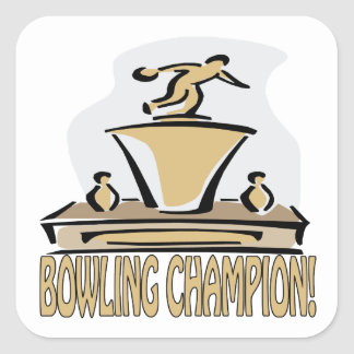 Bowling Champion Square Sticker