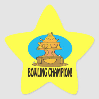 Bowling Champion Star Sticker