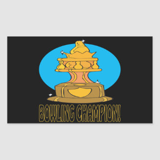 Bowling Champion Rectangular Sticker