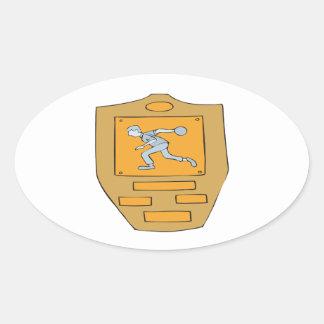 Bowling Champion Oval Sticker