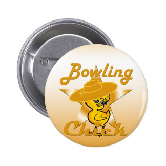Bowling Chick #10 Button