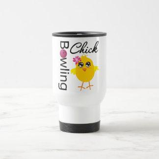 Bowling Chick 15 Oz Stainless Steel Travel Mug