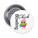 Bowling Chick 2 Inch Round Button