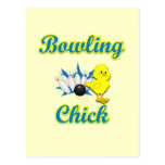 Bowling Chick #2 Post Cards