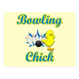 Bowling Chick #2 Postcard