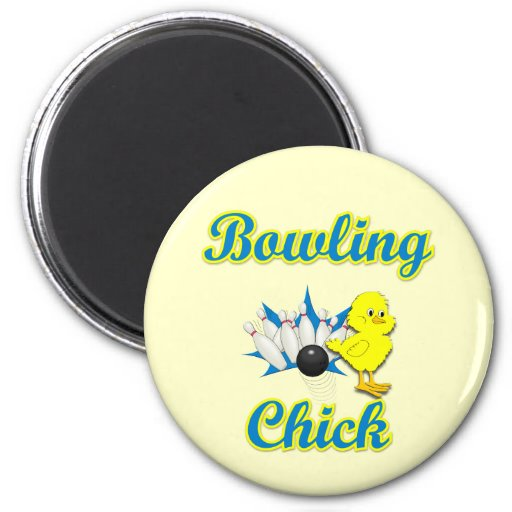 Bowling Chick #2 Refrigerator Magnets