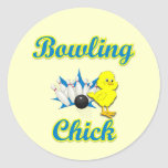 Bowling Chick #2 Stickers
