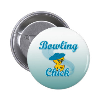 Bowling Chick #3 Button