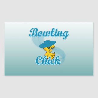 Bowling Chick #3 Rectangular Sticker