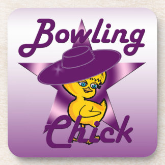 Bowling Chick #9 Beverage Coaster