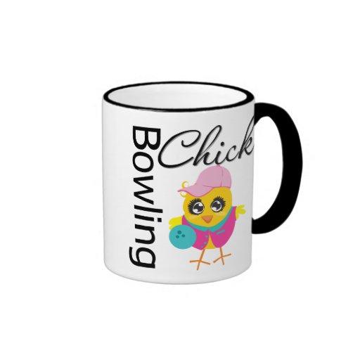Bowling Chick Coffee Mugs