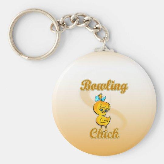 Bowling Chick Keychain