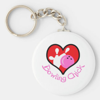 BOWLING CHICK KEYCHAINS