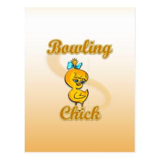Bowling Chick Postcard