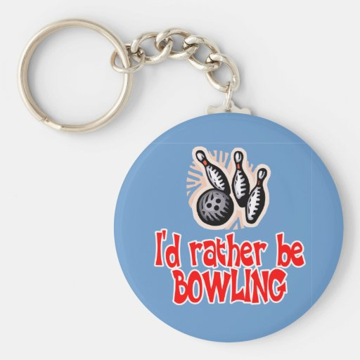 Bowling Chick Rather Keychain