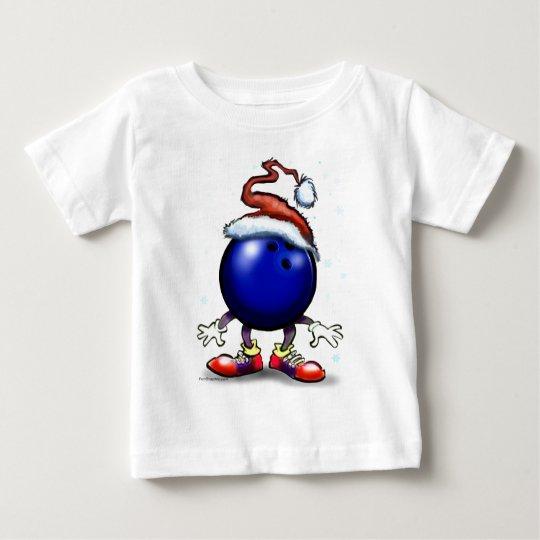Bowling Christmas Baby T-Shirt