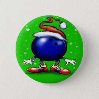 Bowling Christmas Button