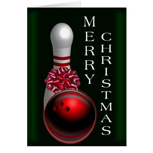 Bowling Christmas Cards, Bowling Christmas Card Templates, Postage, Invitations, Photocards & More