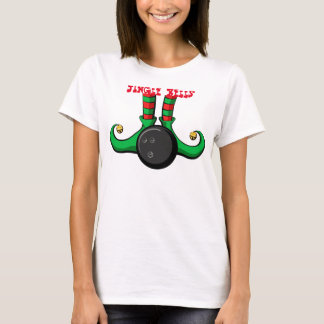 Bowling Christmas Elf Women's T-shirt